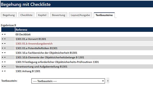 Checklisten konfigurieren
